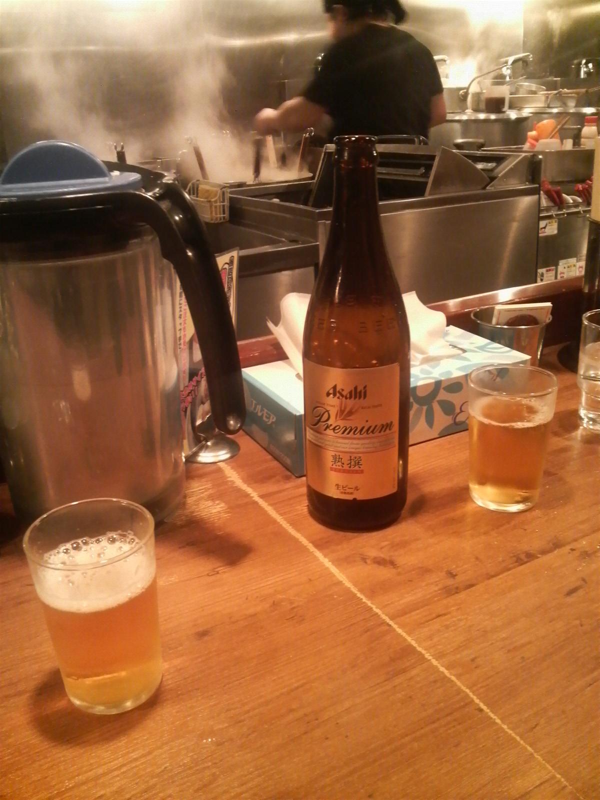 飲む前にはビール